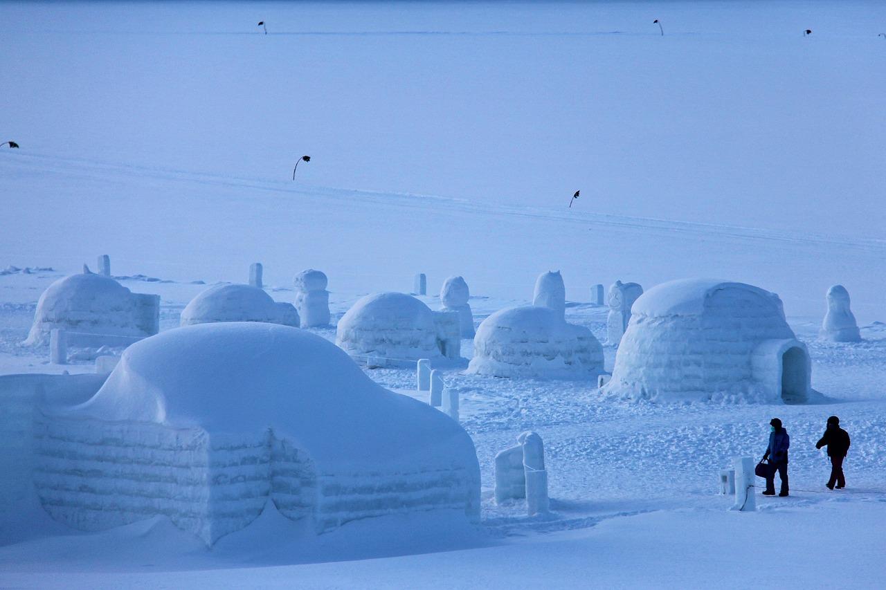 Freezing Igloo Village