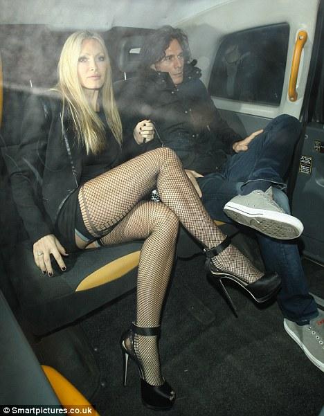 Celebrities Showing Nylon Stocking Tops 52
