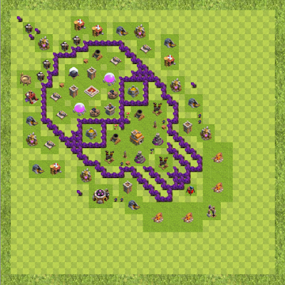 War Base Town Hall Level 7 By ash / cross (Ash / cross TH 7 Layout)