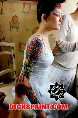 Body Painting Dragon jakarta
