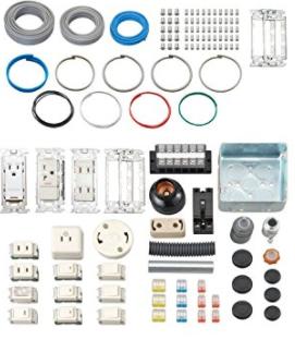 第2種電気工事士の技能試験練習材料セットの画像を表示しています。