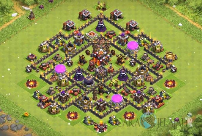 Base Trophy TH 8 di Clash Of Clans Terbaru Tipe 7
