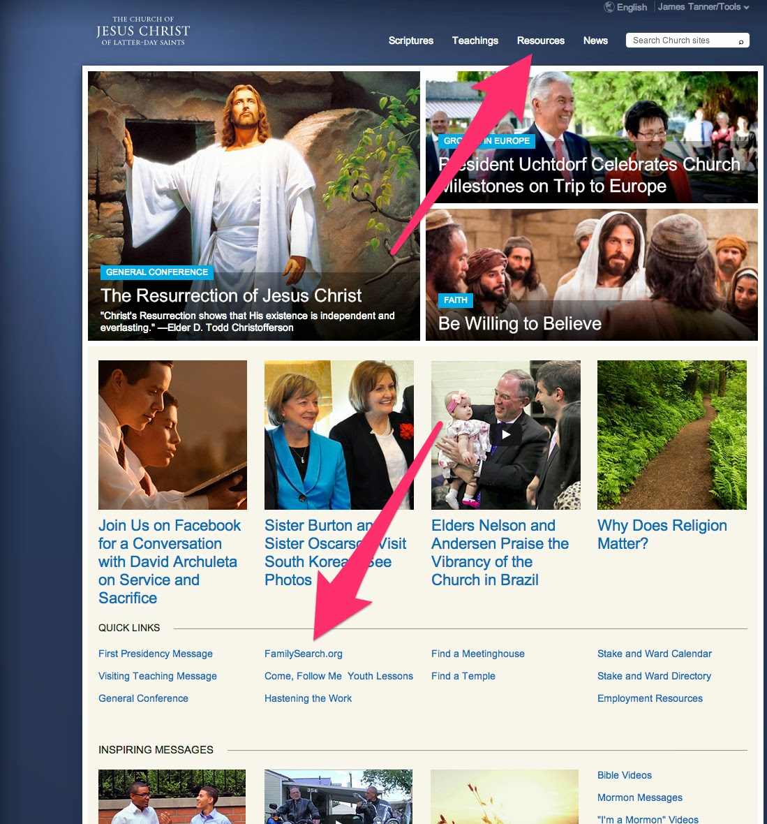 Rejoice, and be exceeding glad   : Family History Resources on LDS org