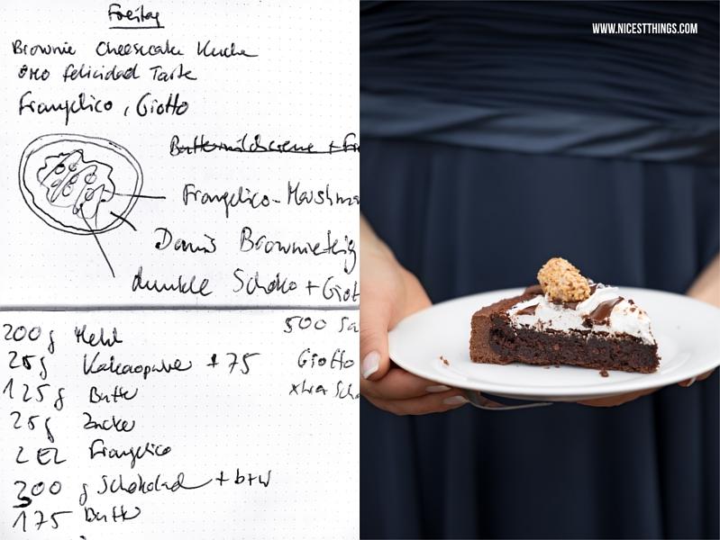 Giotto Kuchen Brownie Tarte mit Frangelico und Marshmallow Creme