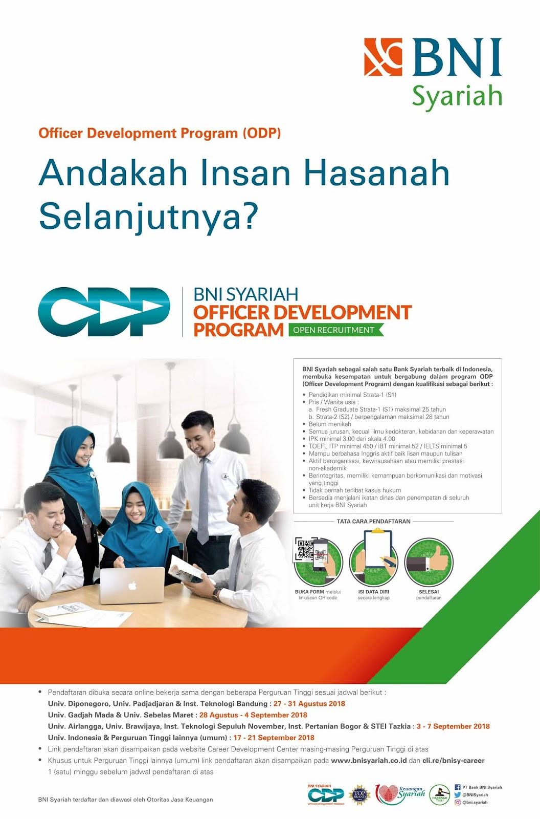 Lowongan Kerja Terbaru PT Bank BNI Syariah Tahun 2018