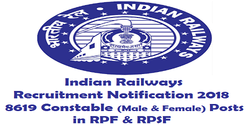 Indian Railways RPF RPSF Constable Recruitment 2018