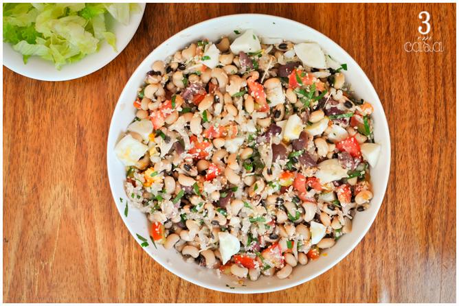salada feijão fradinho para churrasco