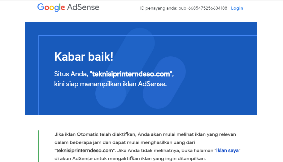 Aproved Google Adsense