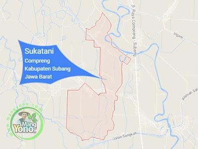 PETA : Desa Sukatani, Kecamatan Compreng