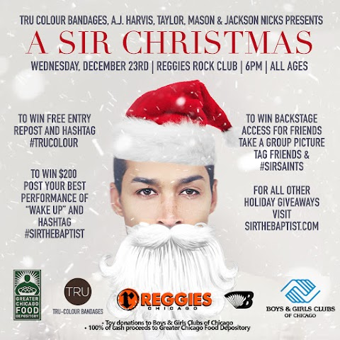 "UPCOMING EVENT: ""A Sir Christmas"" on 12/23 @ Reggies"