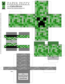 Minecraft Party Free Printable Box.