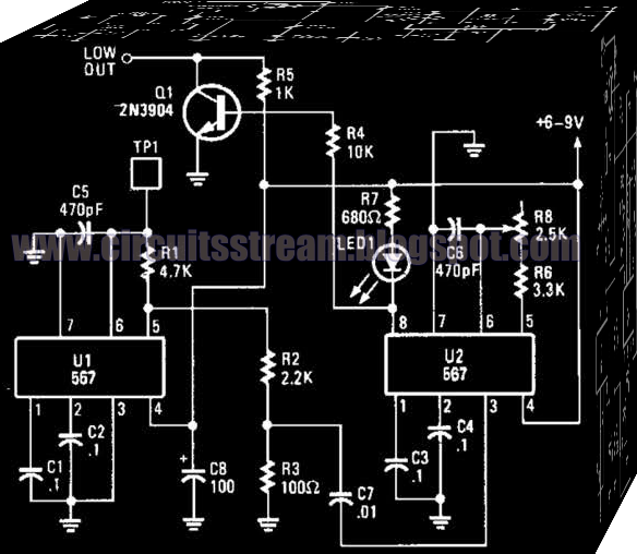 Using Cd4066B Touch Switch Circuit Diagram