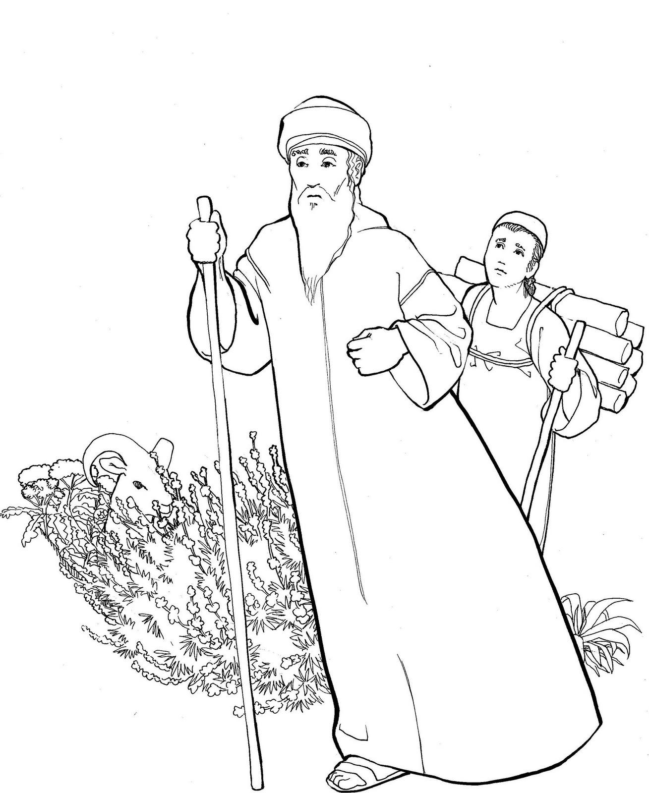 Make a joyful color: Abraham and Isaac