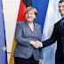 Angela Merkel llega al país con un fuerte operativo de seguridad