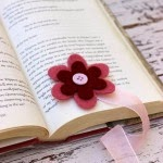 Felt Flower Bookmark