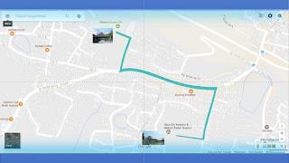 Hasil Petunjuk Jalan Pada Map