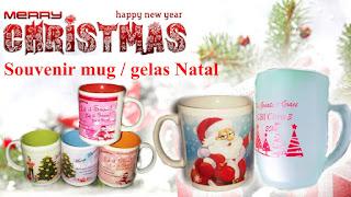 Souvenir Mug dan gelas Natal