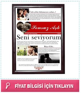 Sevgiliye Özel Aşk Gazetesi