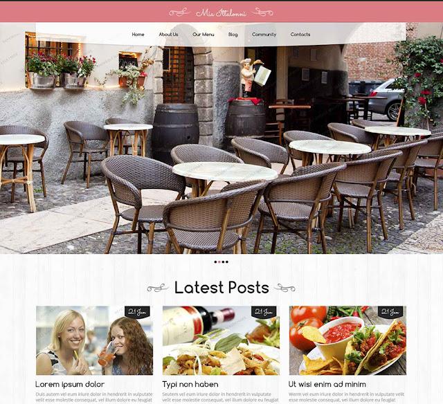 Free WordPress Restaurant Them