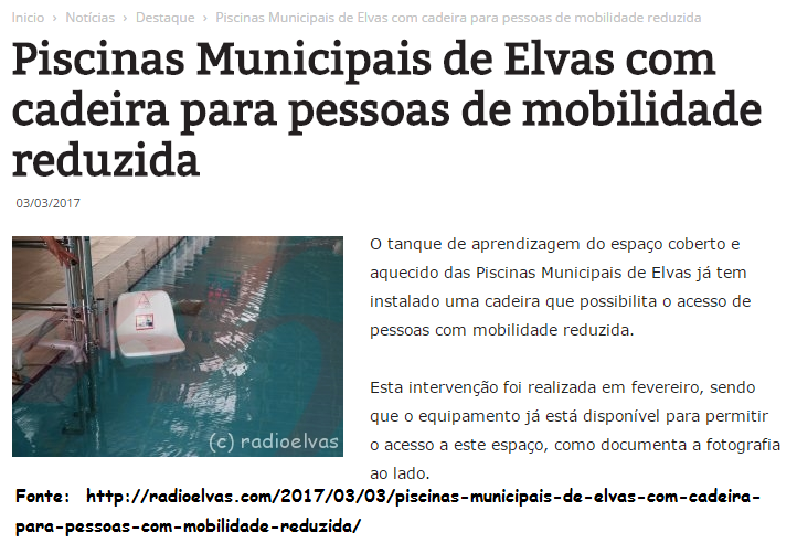 Amigos de s o br s dos matos noticia piscinas for Piscina de elvas
