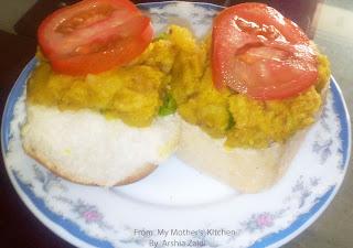 aaloo, paav , tomatoes . best Indian snacks.