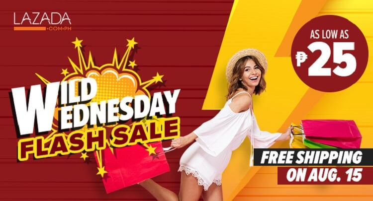Lazada Launches Wild Wednesday Flash Sale; Offers up to 88% Discount and FREE Delivery!