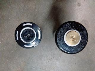 Orbit pop-up sprinkler with brass head and plastic head sprayer