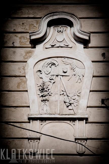 Dzierżoniów. Kamienica. Detal. Secesja, Aparat.