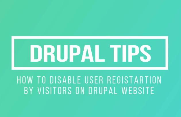 Drupal Tips Disable Create New Account  registration on Drupal Website Login Page