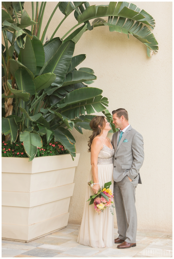 This Ceremony Set Up In Included Our Four Seasons Package I Love The Rustic Wood Paired With Tropical Flowers