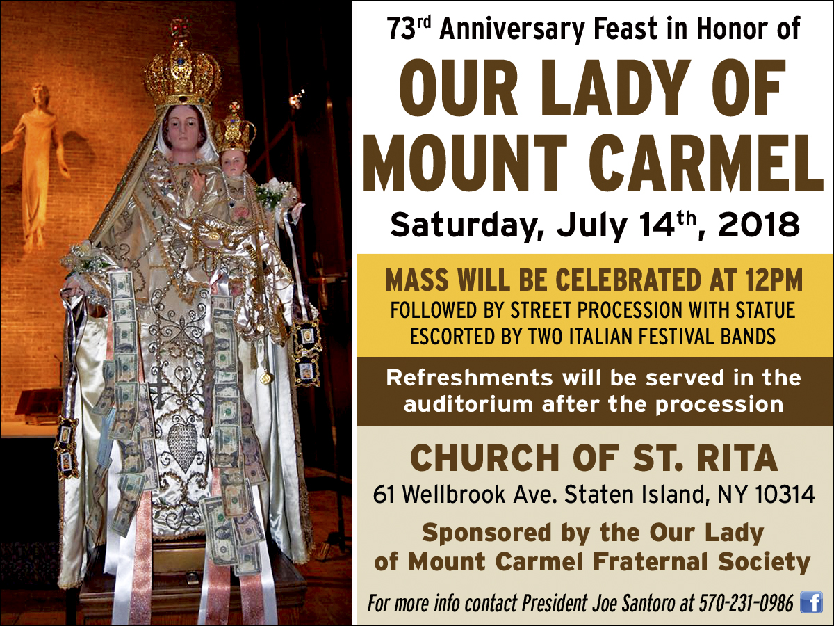 Il Regno: Announcing the 73rd Anniversary Feast of Our Lady of Mount