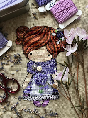 Куколка Прованс, Куколка Лаванда, magic dolls cross stitch, magic dolls вышивка