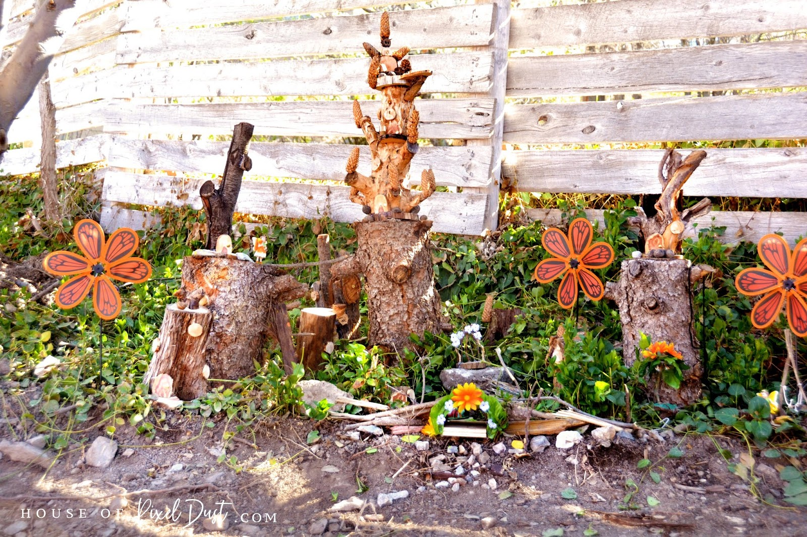 Diy Fairy Garden Houses From Left Over Fire Wood Guest