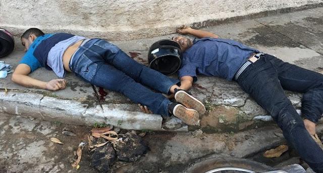 TIROTEIO TERMINA COM BANDIDOS MORTOS E TRÊS POLICIAIS FERIDOS VEJA..