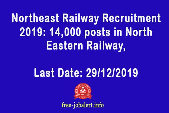 Northeast Railway Recruitment 2019: 14,000 posts in North Eastern Railway, Lucknow, Izzat Nagar & Varanasi, soon to be announced in a week