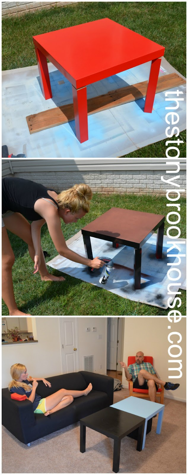 Spray painting IKEA tables