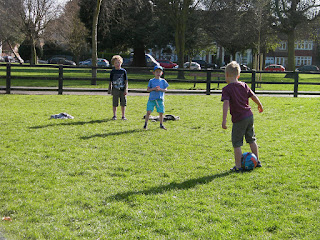 football game in the park