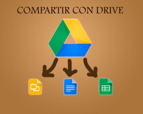 compartir y escribir documento con otra persona en google drive