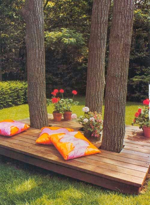 Bench Around Tree Outside Benches DIY Idea 4