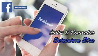cara membuat komentar facebook berwarna biru