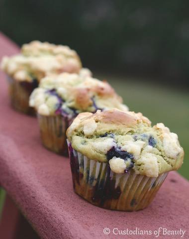 Blueberry Avocado Muffins | Recipe | by CustodiansofBeauty.blogspot.com