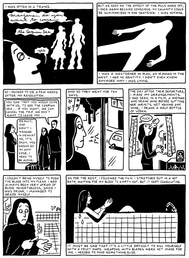 Read Chapter 12 - Skiing, page 118, from Marjane Satrapi's Persepolis 2 - The Story of a Return