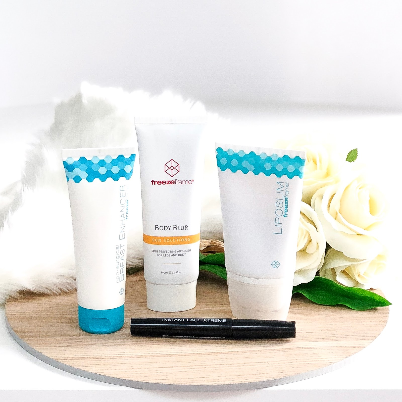 0594657cd4d PRODUCT REVIEW: FREEZEFRAME BODY BLUR, LIPOSLIM, BREAST ENHANCER AND INSTANT  LASH EXTREME