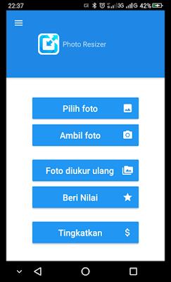 Tampilan Aplikasi Photo Resizer Untuk Mengecilkan Ukuran Foto