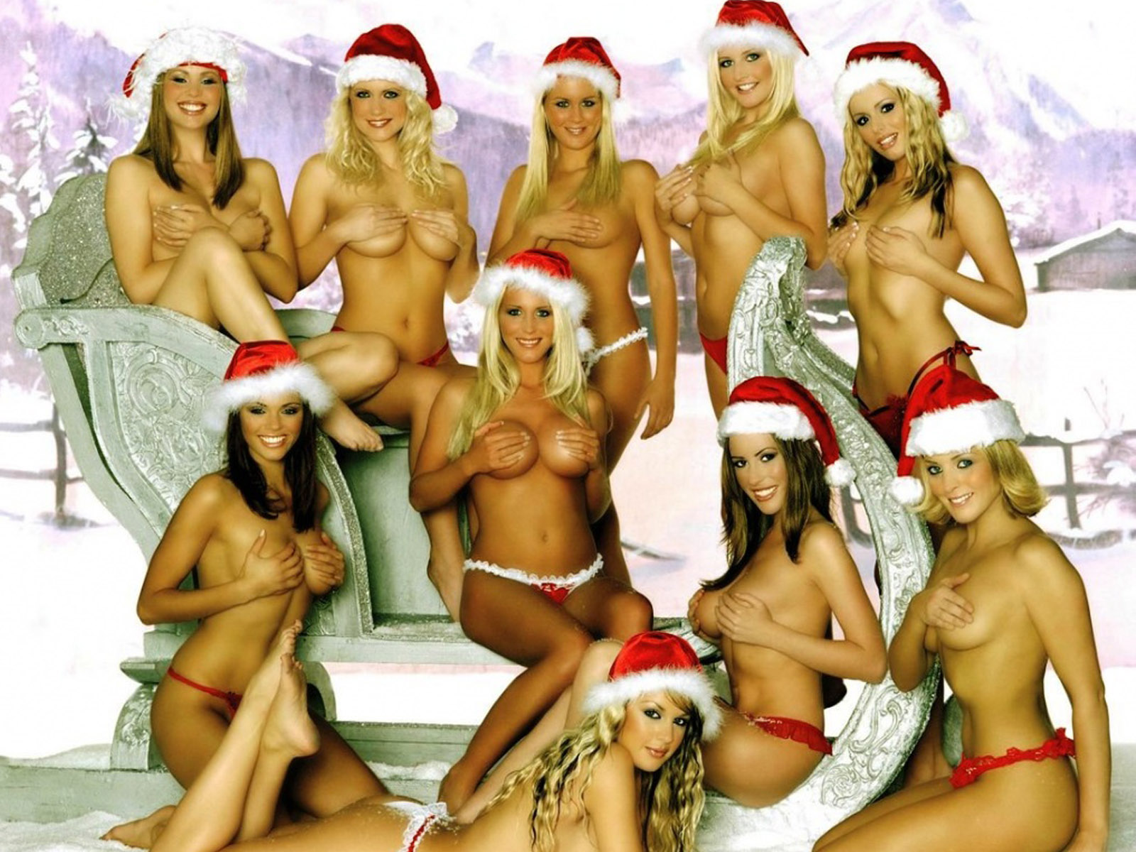 Hot Christmas Girls Wallpaper. 1600 x 1200.Funny Happy Free New Year Text Messages