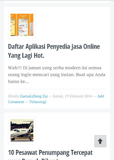 Cara Memasang Back To Top Di Blog