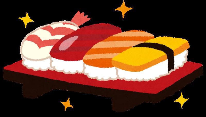 寿司のイラストえび まぐろ サーモン 玉子 かわいいフリー素材集