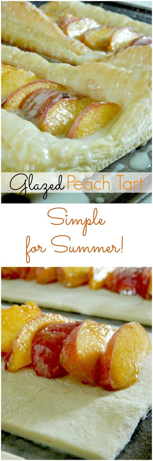 glazed peach tart (sweetandsavoryfood.com)