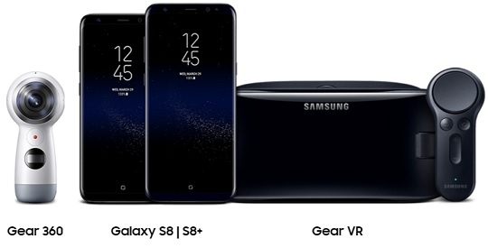 Samsung Galaxy S8 and S8+ Can be Paired with Gear 360 and Gear VR