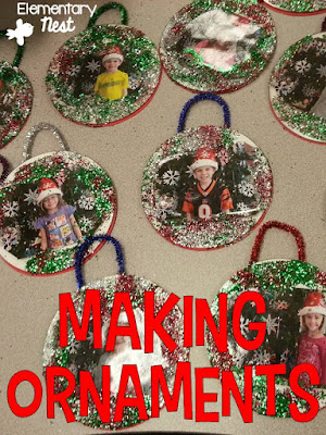 Holiday gift ideas for the classroom- making ornaments with your students